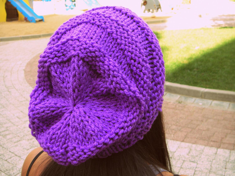 eee808153db Purple slouchy beanie