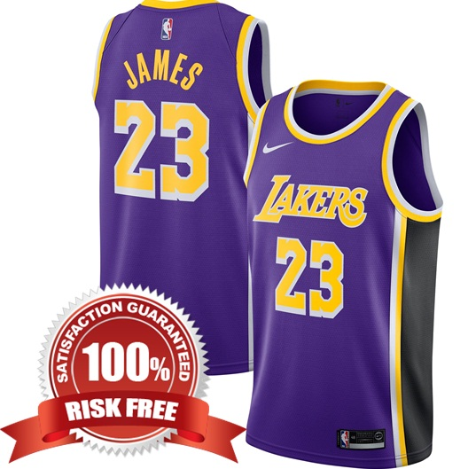 85e0cbd9c464 LeBron James  23 Los Angeles Lakers Purple 2018 19 Men Replica ...