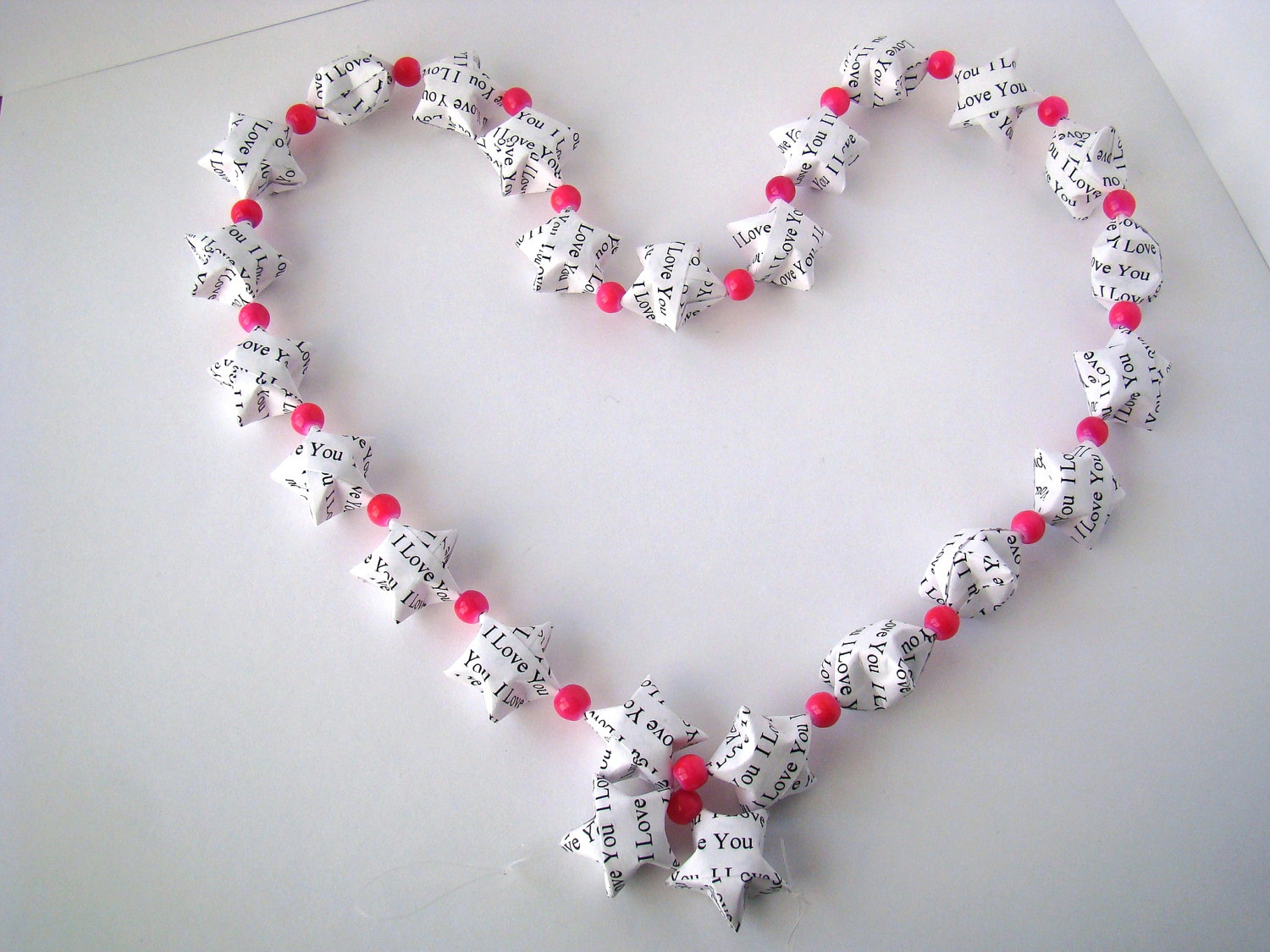 """""""I Love You"""" Lucky Star Garland - Valentines Day or ... - photo#37"""