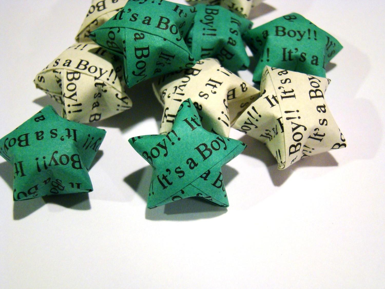 It's a Boy! - 100 Origami Lucky Stars - Baby Shower Decor ... - photo#48