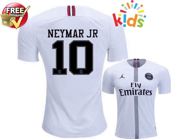 925dc406f76 Neymar Jr  10 Paris Saint-Germain Third Kids Youth 18 19 Soccer Jersey