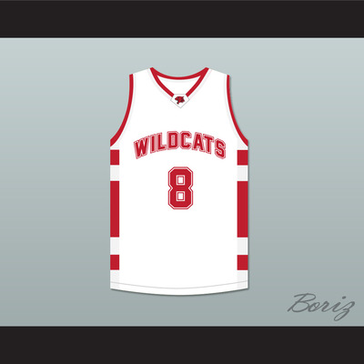 63abeef4dd9 Chad danforth 8 east high school wildcats white basketball jersey -  Thumbnail 3