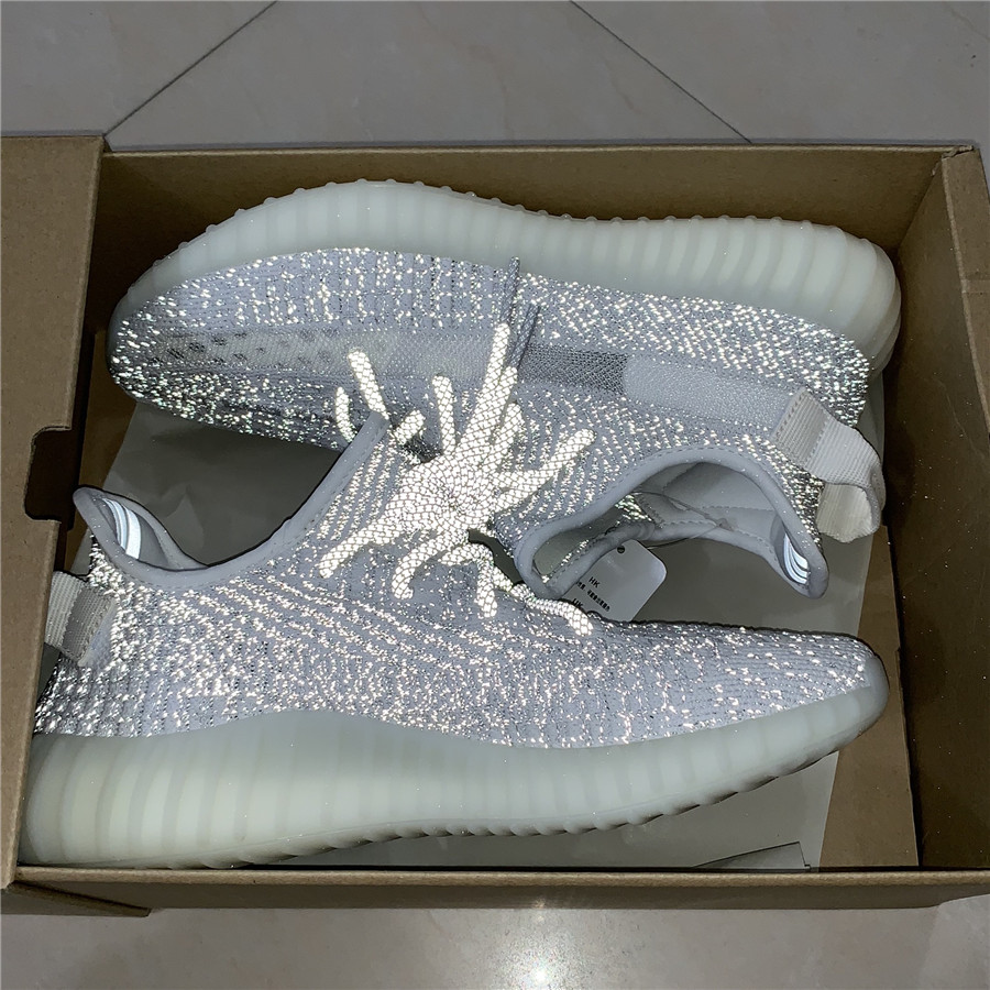 663e9d3900caa ... Adidas Yeezy Boost 350 V2  Static Reflective  Shoes EF2367 - Thumbnail 4