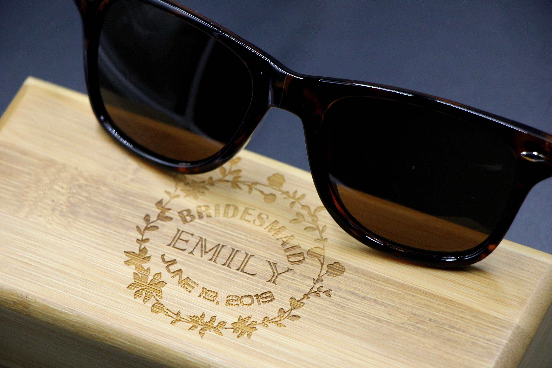 65be599864 Bridesmaid Gift  Wedding Gift Idea  Usher Gift  Wedding Gift  Personalized  Sunglasses
