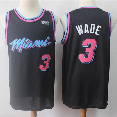 a717208fa Men s miami heat dwyane wade black 201819 swingman basketball jersey – city  edition basketball jersey -