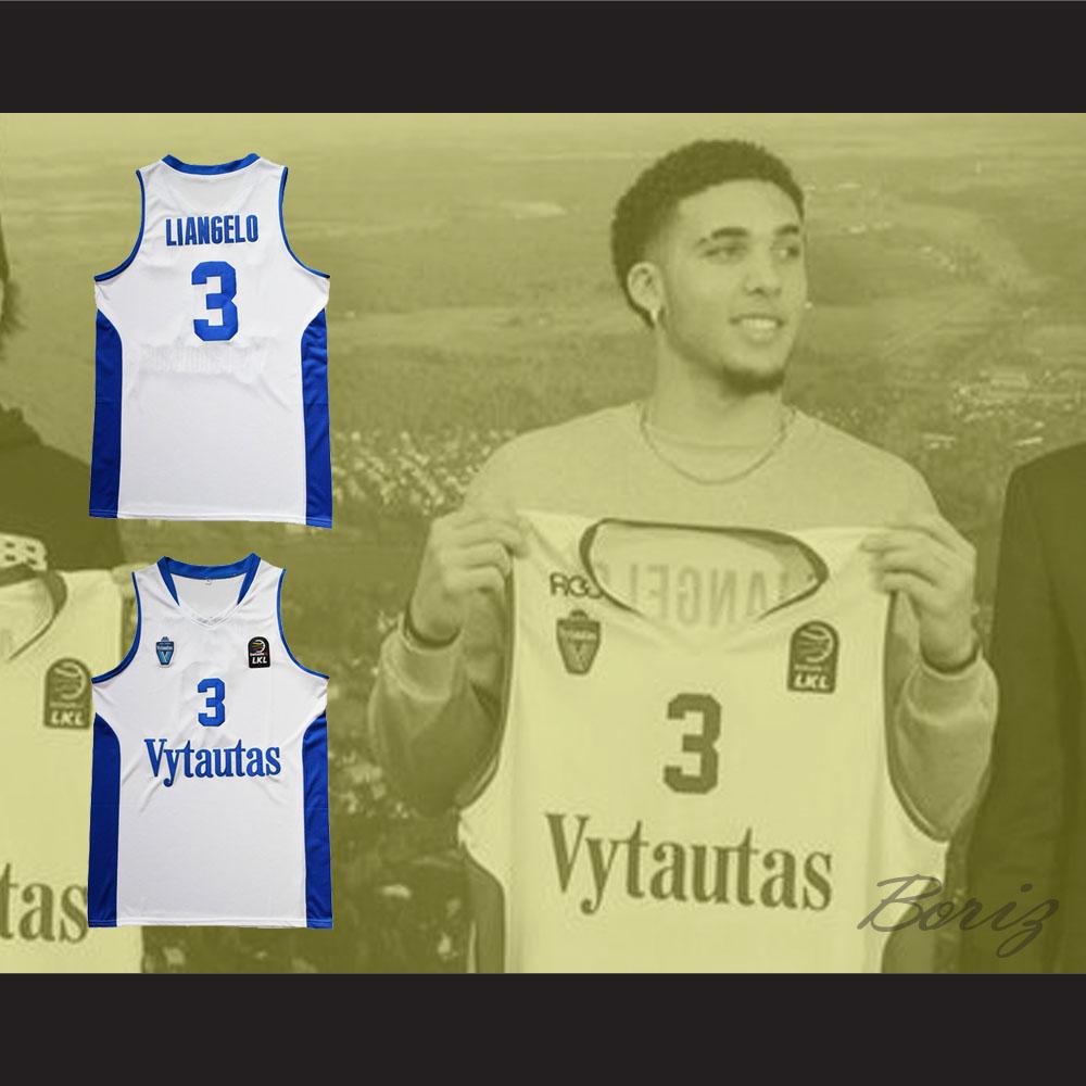 904a6e54379b ... LiAngelo Ball 3 Lithuania Vytautas White Basketball Jersey - Thumbnail 2  ...