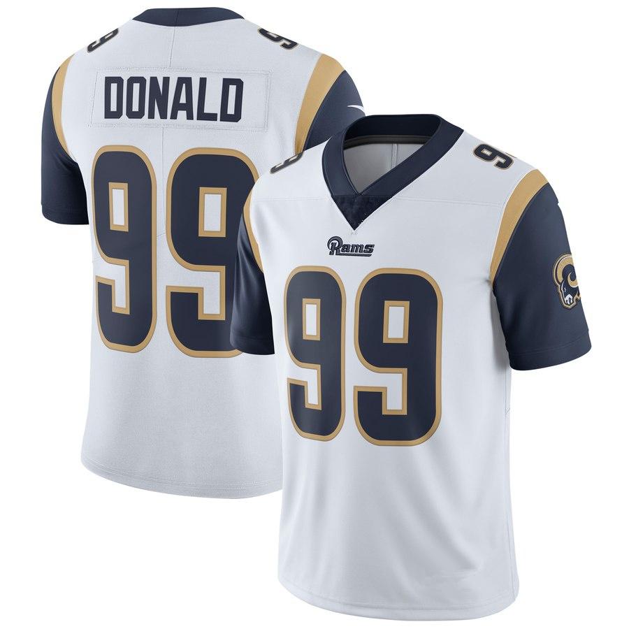Men s Los Angeles Rams  99 Aaron Donald White Football Jersey ... 0f2748e94