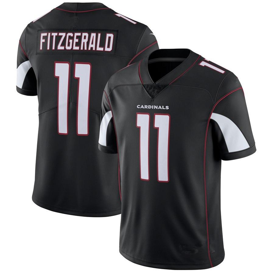 9c5f10dd0402 Men s Arizona Cardinals  11 Larry Fitzgerald Black Football Jersey ...