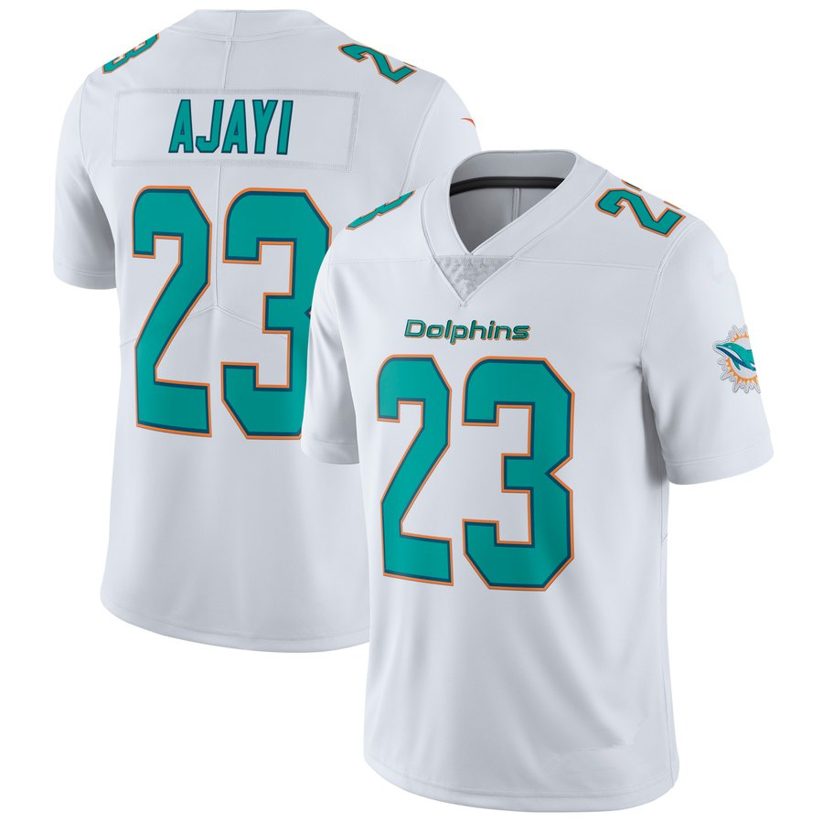 Men s Miami Dolphins  23 Jay Ajayi White Football Jersey · vsport ... 7c447846d