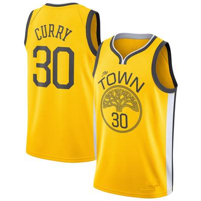 Men s golden state warriors stephen curry yellow 201819 swingman jersey –  earned edition basketball jersey - 3508b5bc2
