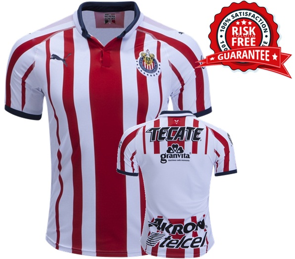 info for 921a2 6406b Custom Chivas 18/19 Home Jersey Men 2018 2019 Shirt Red Soccer from  JeisyShop