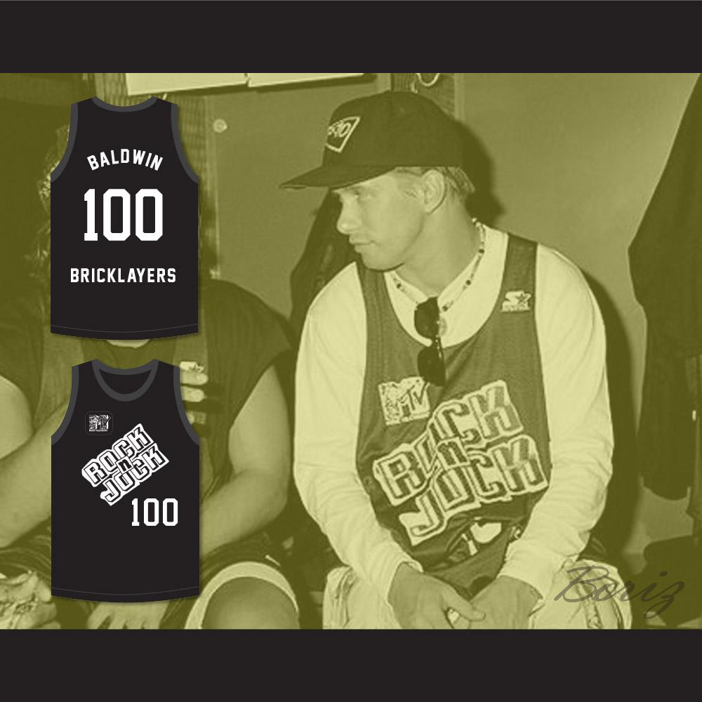 ... Stephen Baldwin 100 Bricklayers Basketball Jersey 3rd Annual Rock N   Jock B-Ball Jam ... ab9b237f1