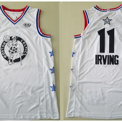 c96d9618c Men s boston celtics 11 kyrie irving white 2019 all-star game finished  authentic jersey