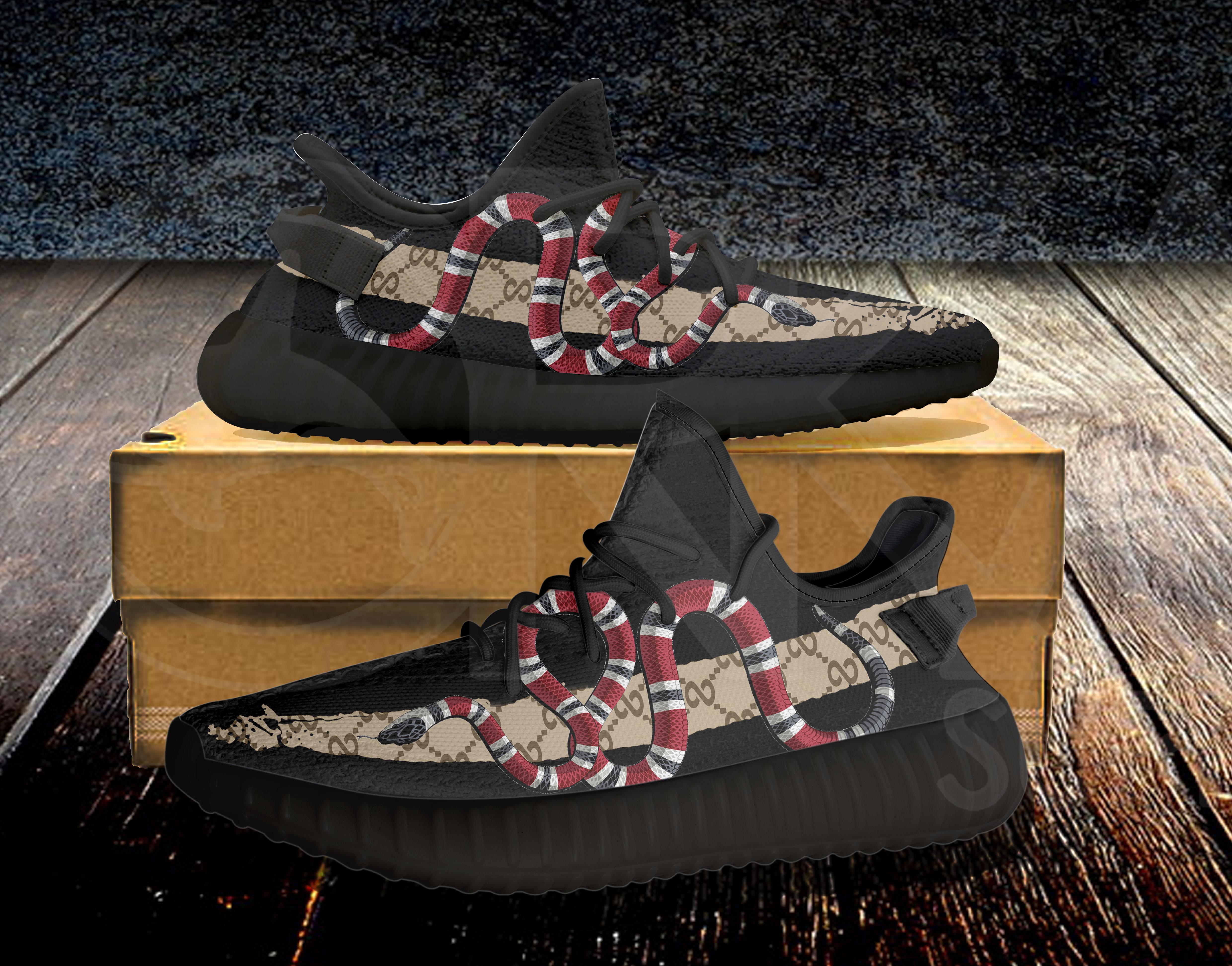 baea588d0e09 Black Coral Snake Infinity 350v2 Custom Unisex Running Shoes ...