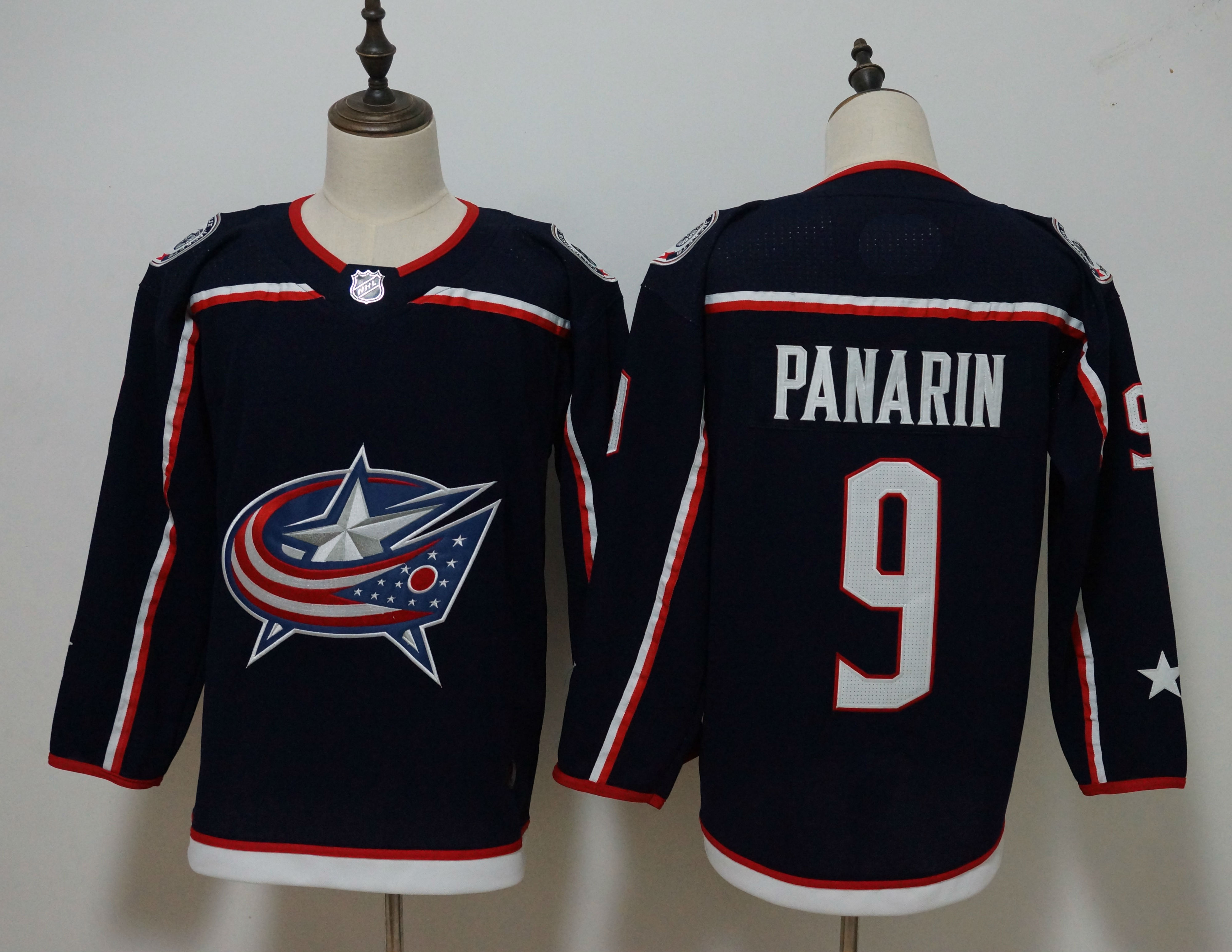 hot sale online d851d 5e952 2019 Mens NHL Columbus Blue Jackets #9 Artemi Panarin Authentic Player  Jersey from Zamboni