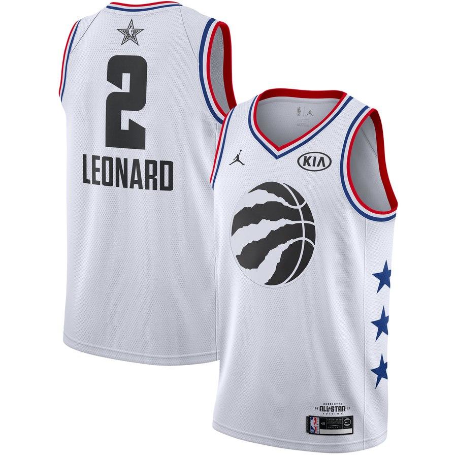 4bc434108 2019 All-Star Toronto Raptors  2 Kawhi Leonard Basketball Jersey ...