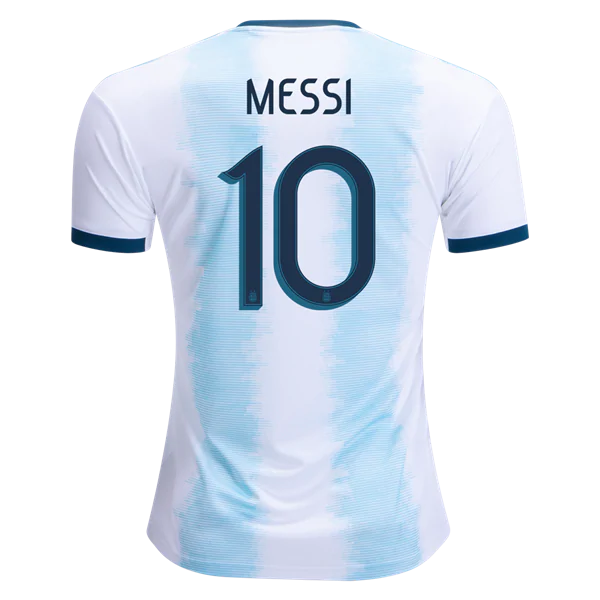 sale retailer 4a257 f853a Argentina 2019 National Team LM #10 Home Soccer Jersey AFC Men's Stadium  Shirt from HoHo Jersey Collection