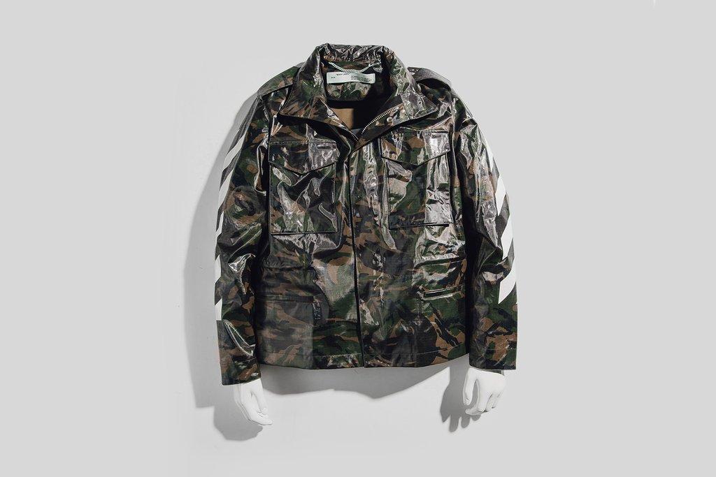 edff479f17183 Off-White: Diagonal M65 Camo Jacket · Stush Fashionista · Online ...