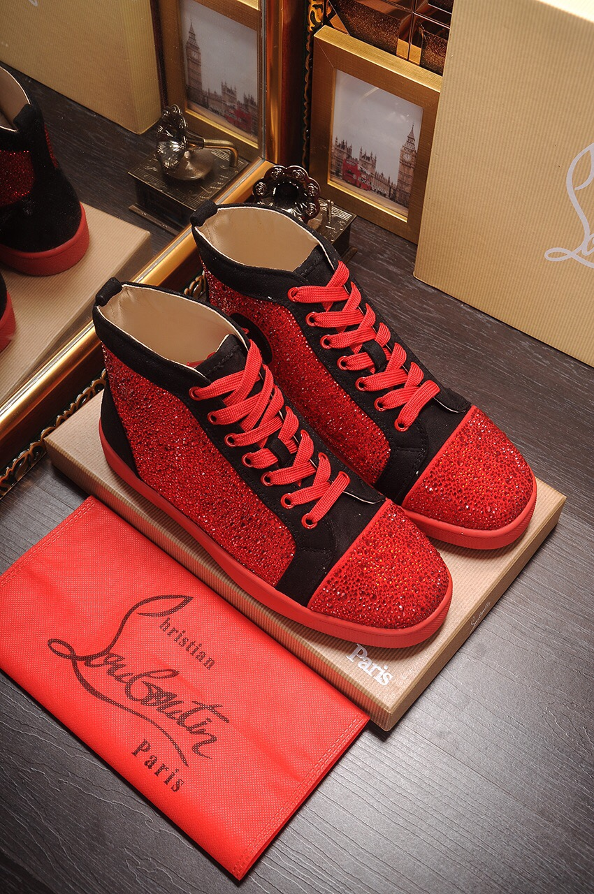 finest selection 7e4ac f67b8 Christian Louboutin mens blinged out sneaker(red) sold by Gang$ta GlaZe