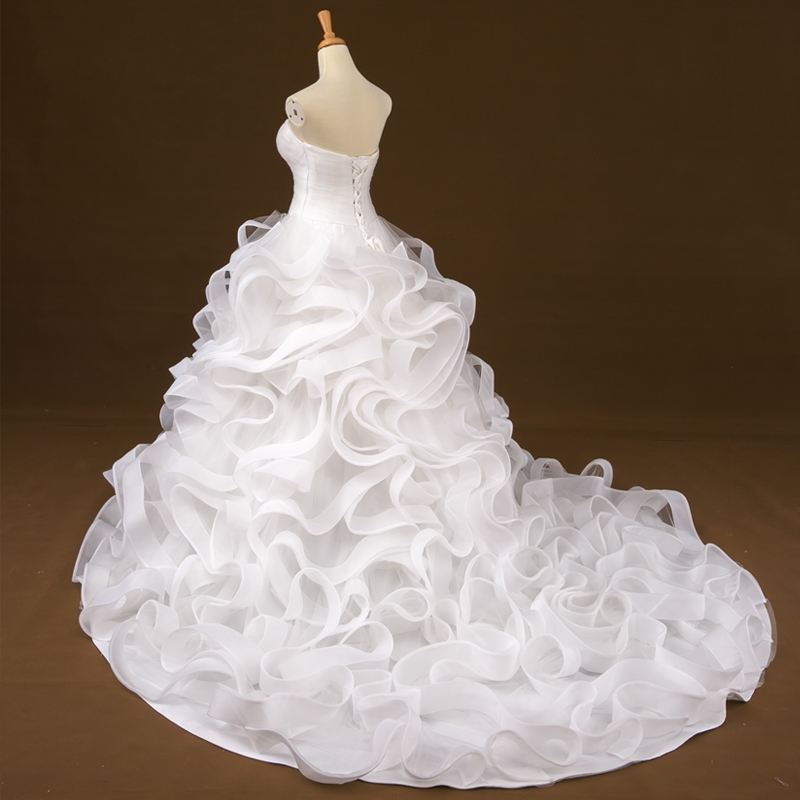 Organza Plus Size Wedding Dress Bridal Gown Prom Evening Dress