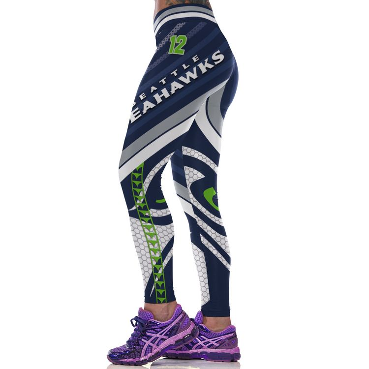 e83f6f83 NFL Seattle Seahawks Football Team Sports Leggings