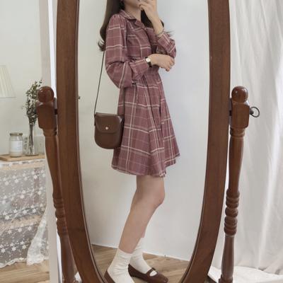 5f6f3d42b5 Collared plaid dress