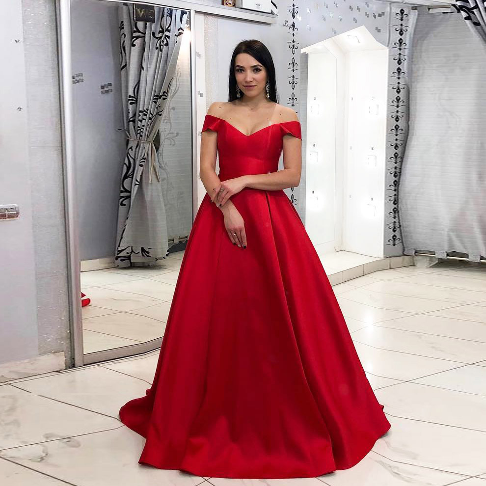 82cf32b69eb Princess Off The Shoulder Prom Dress Ball Gown Wedding Party Dress ...