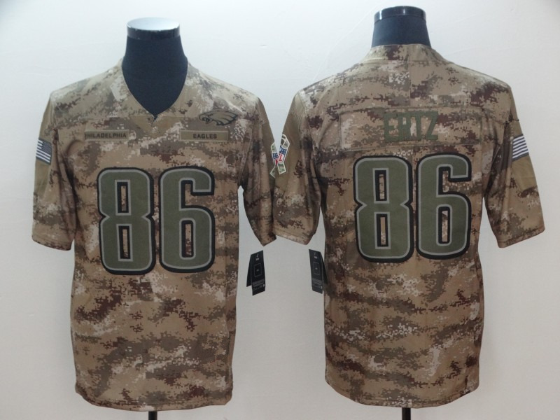 info for c8b38 cc65b Mens Philadelphia Eagles 86# Zach Ertz Camo Salute to Service Limited Jersey