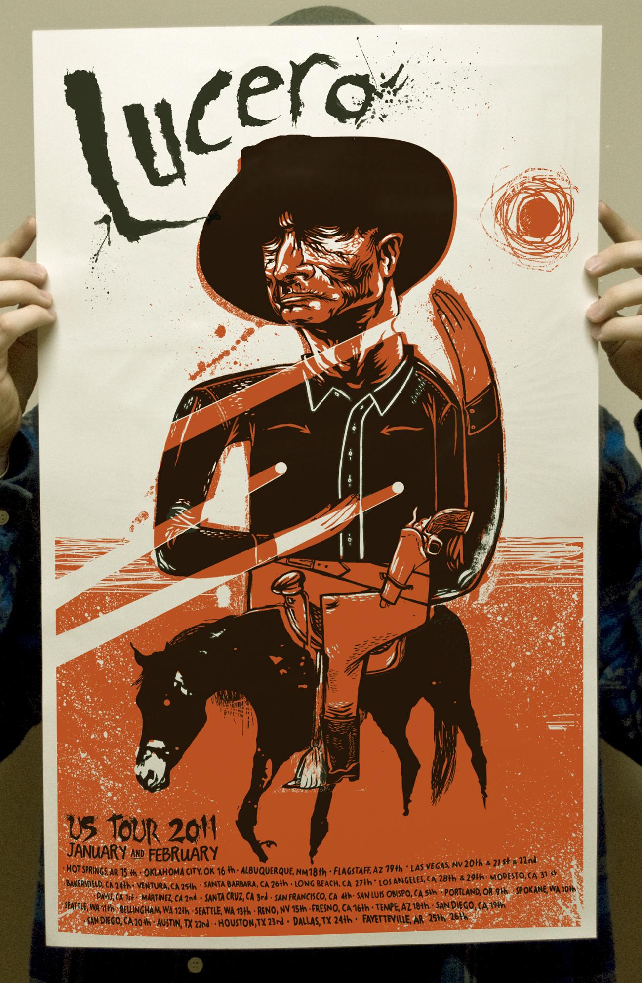 The Cowboy Lucero Tour poster 2011 on Storenvy