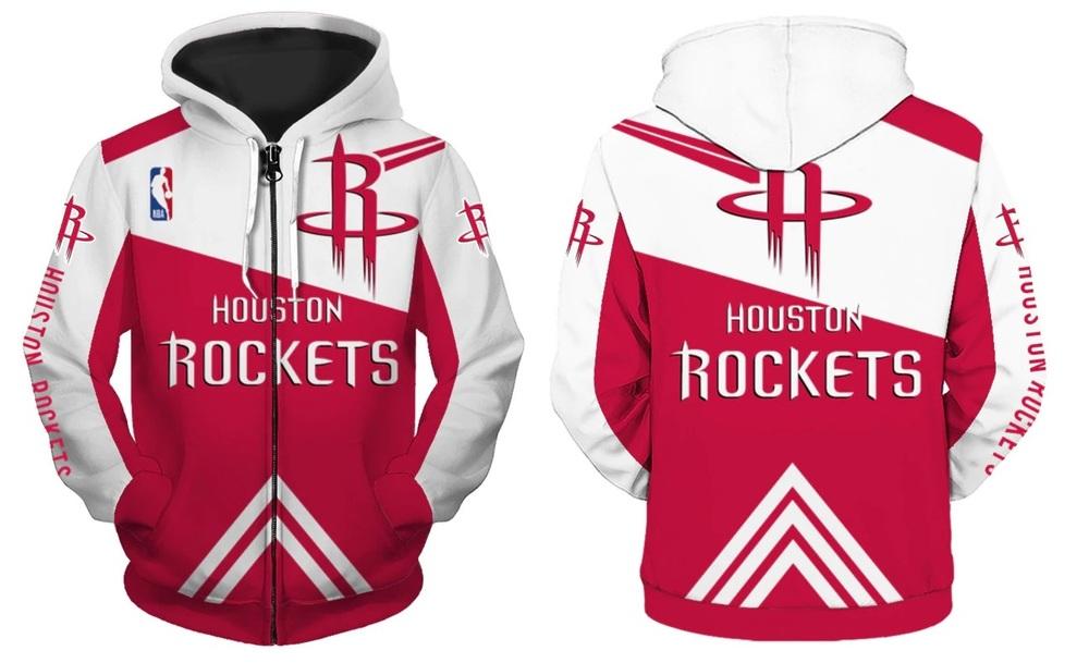 ff43cab06 Houston Rockets Full Zipper Hoodie NBA Basketball Sweatshirts New Season ·  SportsMegas · Online Store Powered by Storenvy