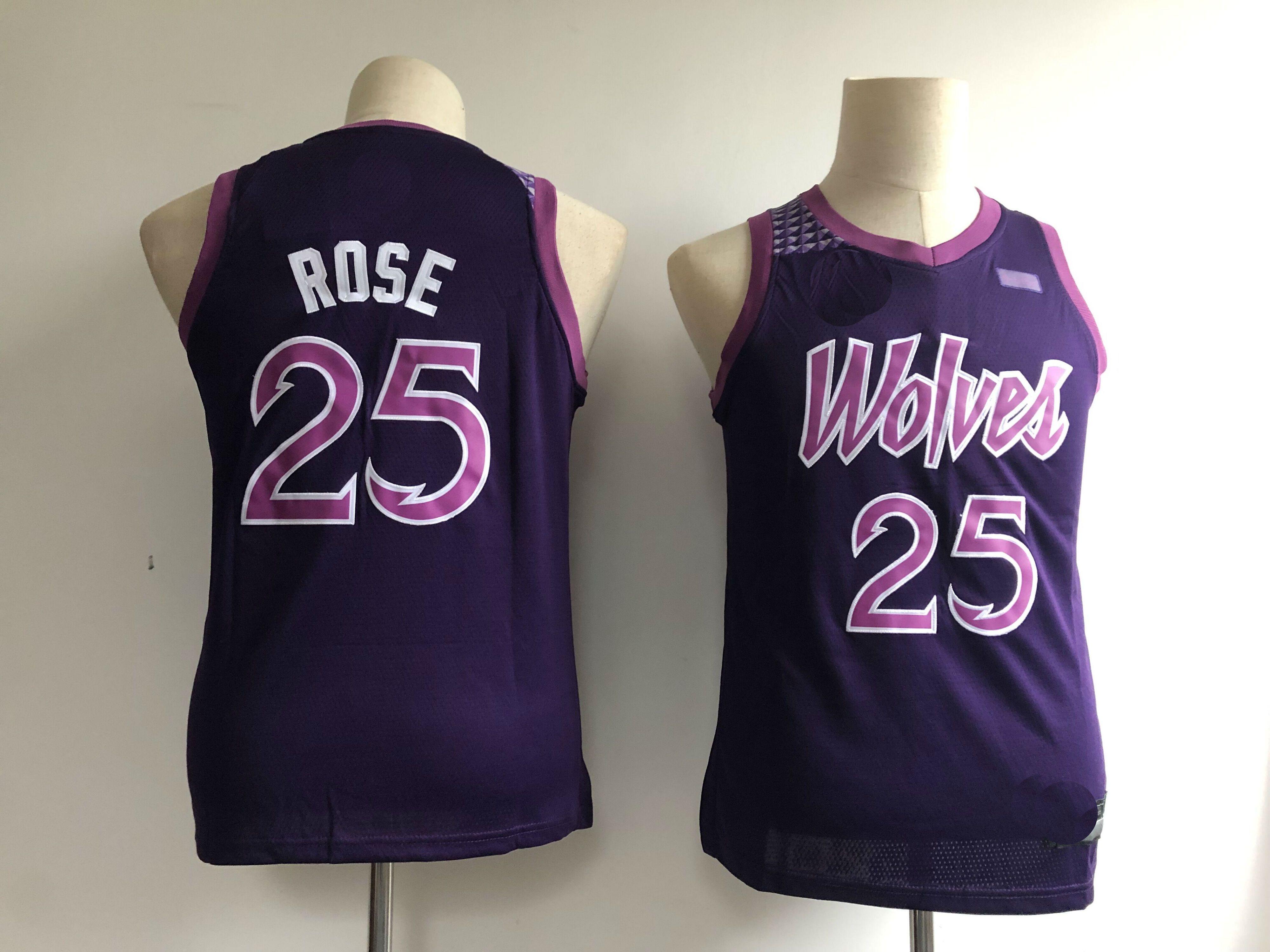 Derrick Rose 25 Minnesota Timberwolves Purple City Edition