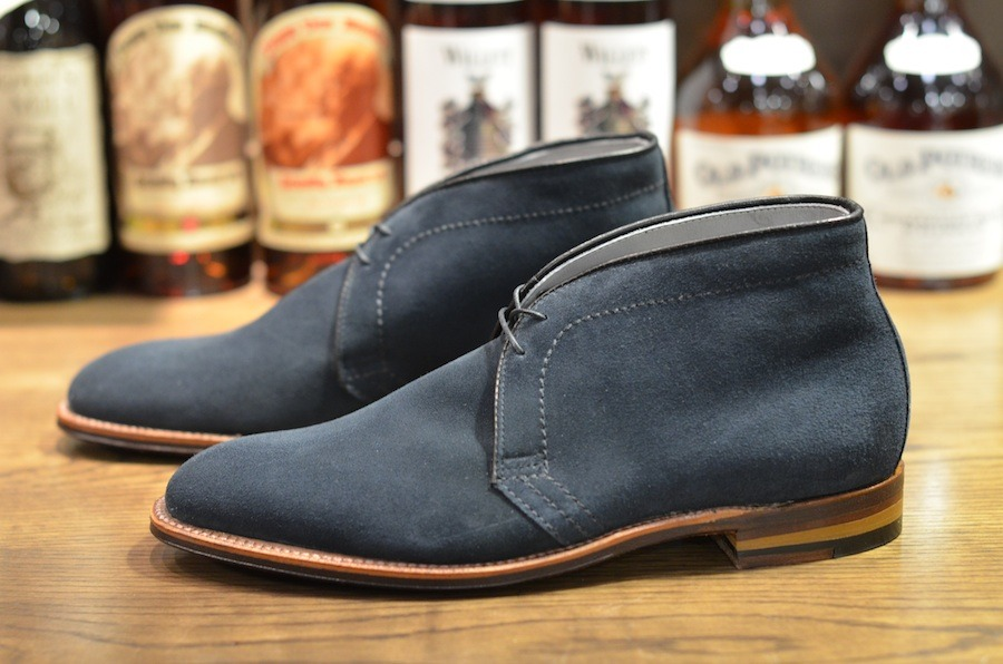 57f61bf9e Handmade Men Navy blue Suede Chukka Boots, Men Casual Suede Leather Ankle  Boots