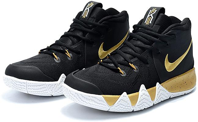 pretty nice fa8aa 0d4e3 Mens Nike Kyrie 4 In Black Gold White Cheap Sale from BELLDRESS