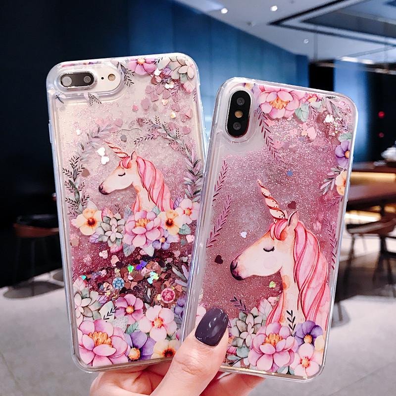 Unicorn Glitter Clear Phone Case
