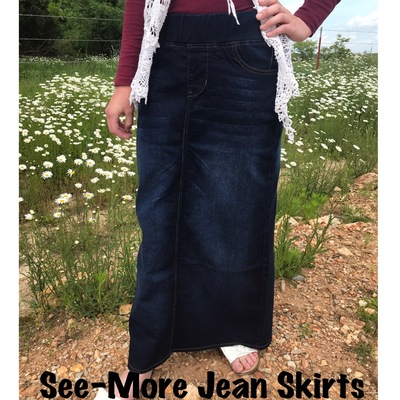 582e4a4d52 SKIRTS · See-More Jean Skirts · Online Store Powered by Storenvy