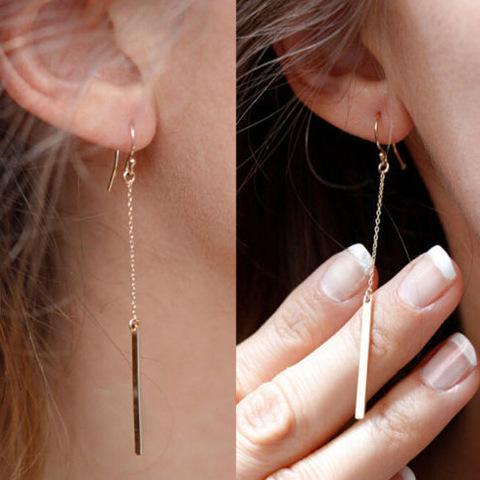 68cd0383c Femme Black Bar Fine Bijoux Simple Girl T Jewelry Earrings Ear 207 Punk  Gold Stud Silver Earring Wom on Storenvy