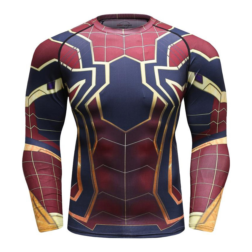 7c266e6d Avengers Infinity War: Iron Spider-man Men's Compression Long Sleeve ...