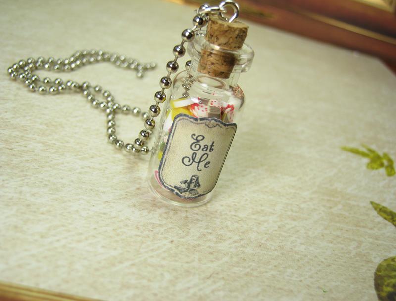 Eat Me 2ml Glass Bottle Necklace Glass Vial Pendant