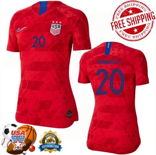 best service c5917 d9653 Abby Wambach No.20, Away Soccer Jersey for Women's (2019-2020) from  USASPORTS
