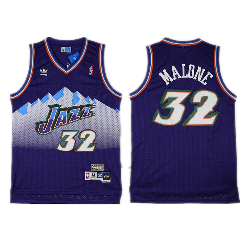 detailed look 43b9f 837e8 Men's Utah Jazz Karl Malone Retro Purple Hardwood Classics Jersey sold by  bakjersey