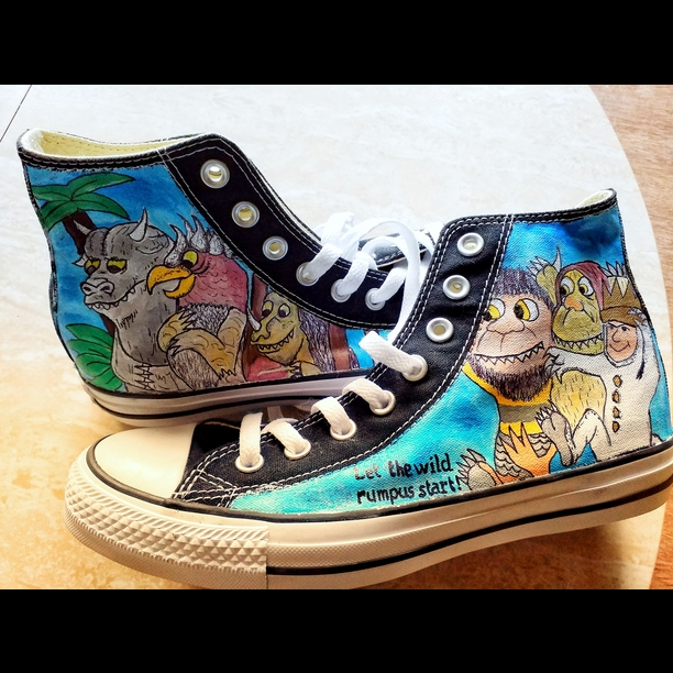 wholesale dealer c8a95 b0264 Where the Wild Things Are Inspired Sneakers   Painted shoes   Custom shoes  on Storenvy