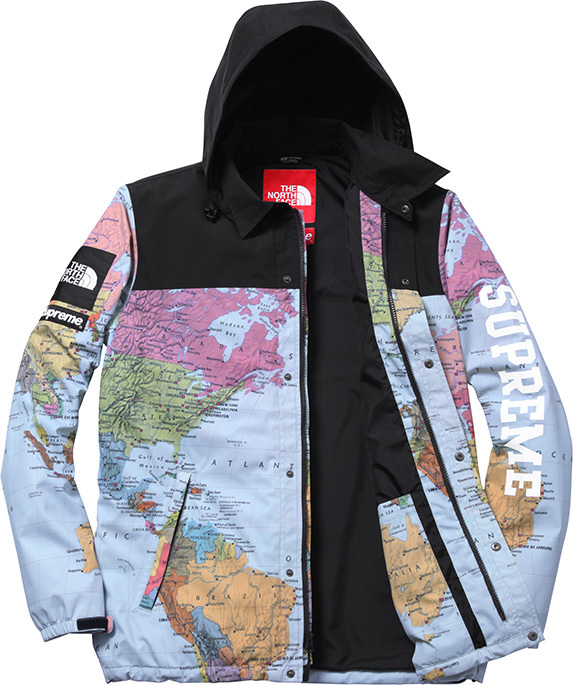 Supreme x The North Face world map jacket sold by white light shop