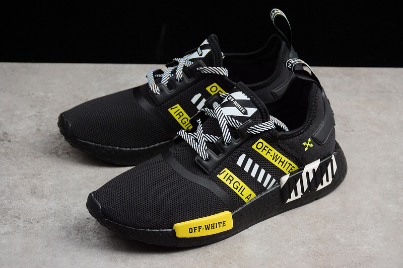 new product 03f79 43d8a OFF-WHITE X Adidas NMD Boost R1 Black runner shoes sold by ivicente