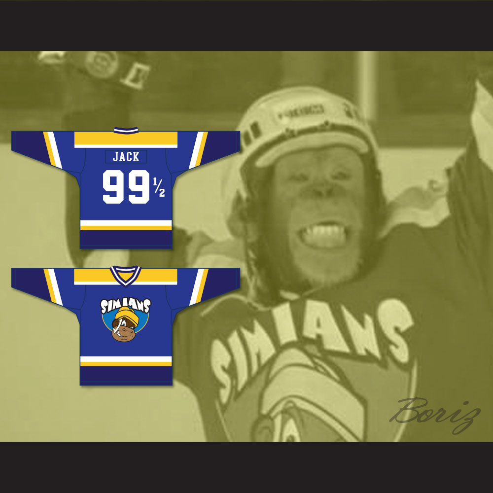 Jack 99 1/2 Seattle Simians Hockey Jersey MVP: Most Vertical Primate from  acbestseller