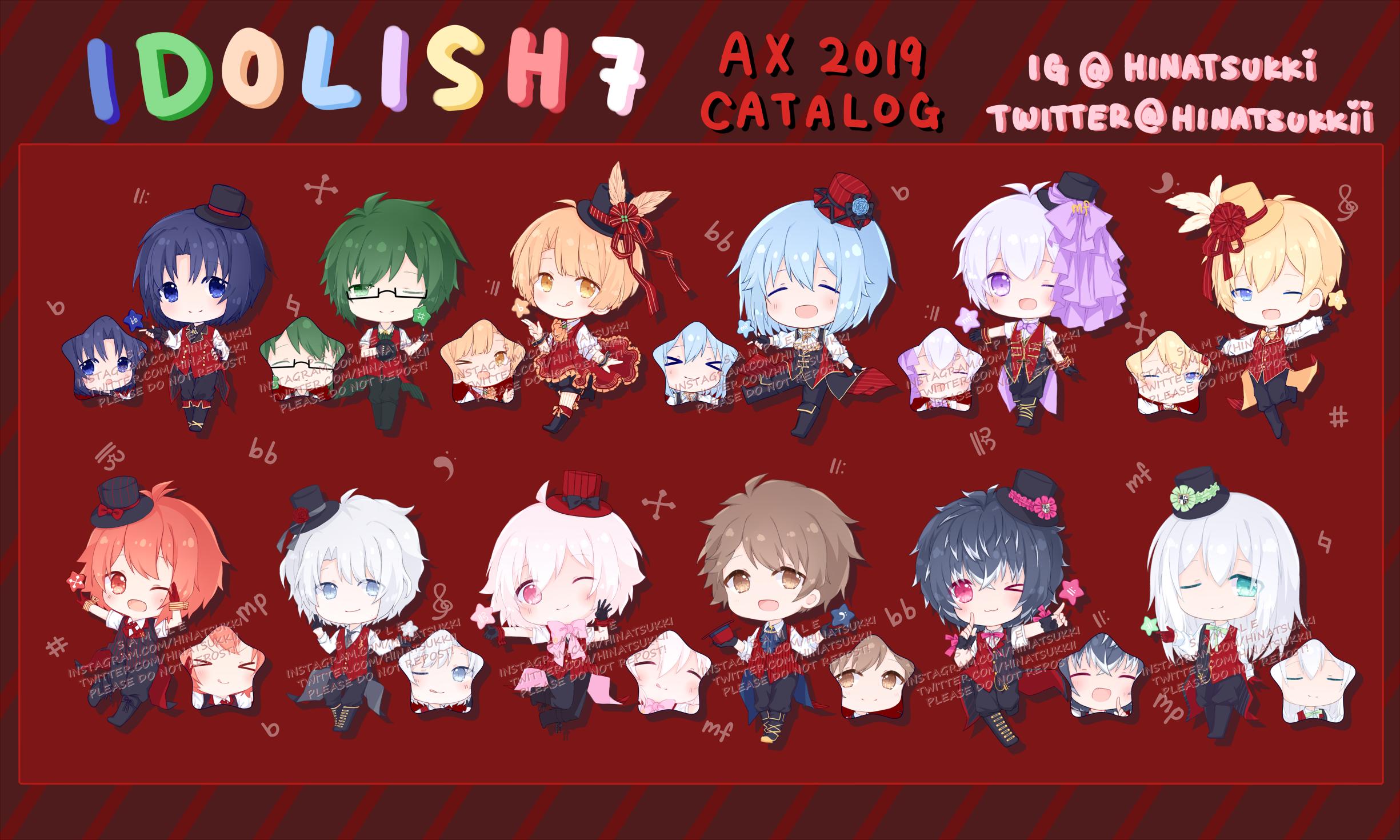 Idolish7 [Twinkle 12] 2 5inch Double Sided Acrylic Keychain