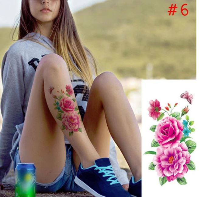 My Body 4 X 3d Flowers Waterproof Temporary Tattoo Stickers Beauty Body Art Original Online Store Powered By Storenvy