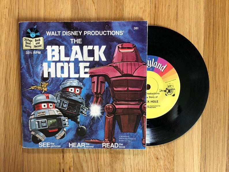 The Black Hole Story 7 inch LP 1979 Book and Vinyl Record Album from  LaCreeperie Books & Records