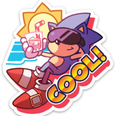 Sonic Cool Vinyl Sticker Rtil Online Store Powered By Storenvy