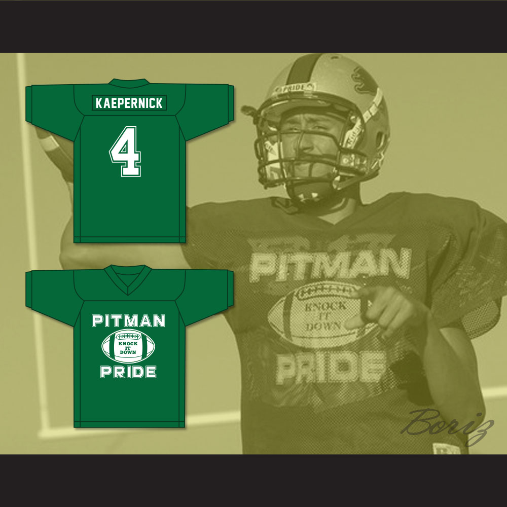innovative design 9143d a403a Colin Kaepernick 4 Pitman Pride Practice Green Football Jersey 2 from  acbestseller