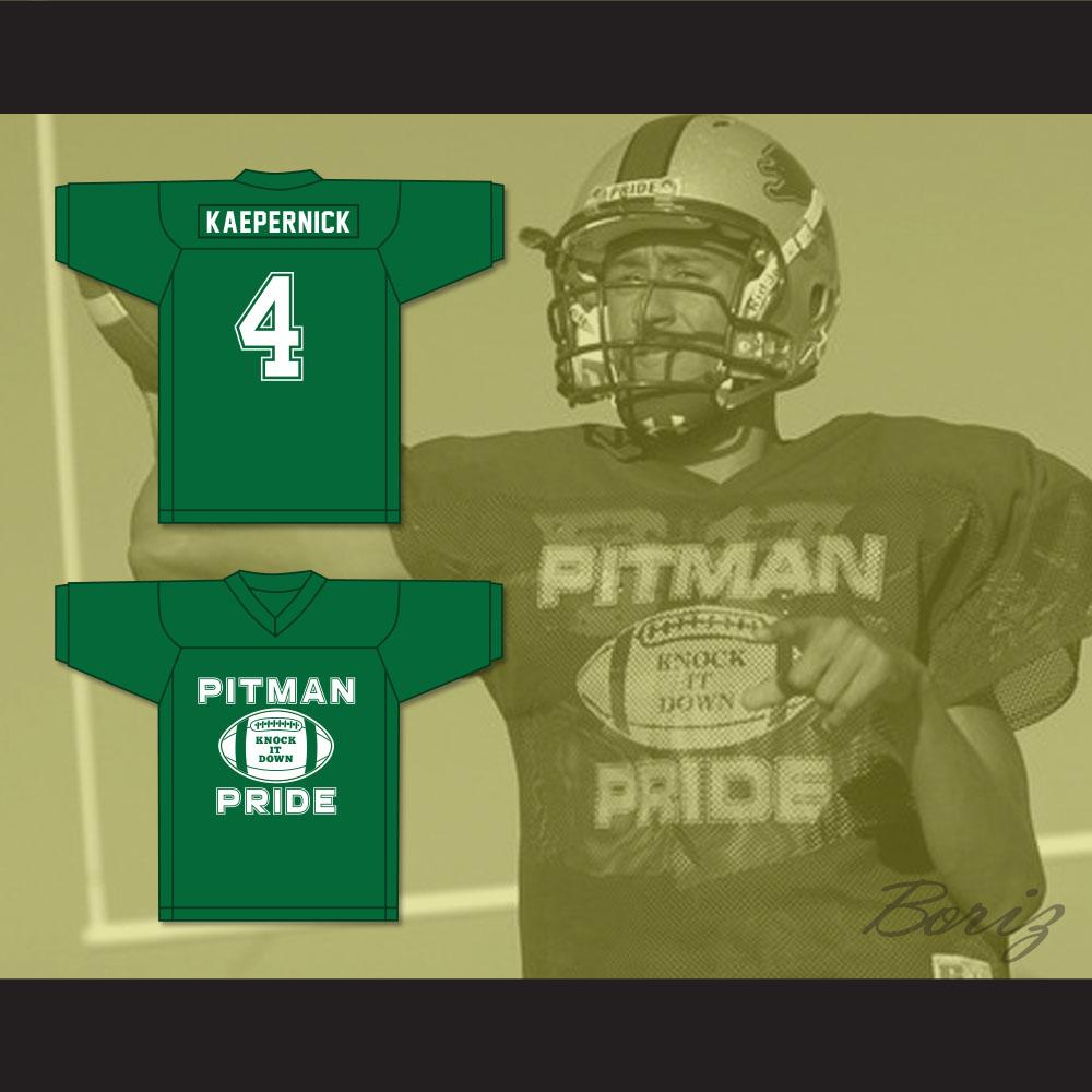 innovative design f1db0 9674f Colin Kaepernick 4 Pitman Pride Practice Green Football Jersey 2 from  acbestseller